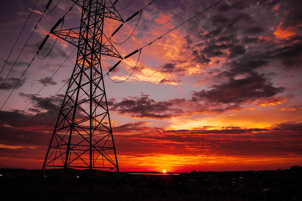 Sunset over El Dorado Hills and Folsom Lake