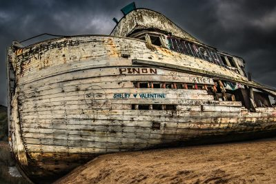 Point Reyes Shipwreck After Spinning Fire